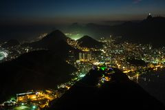 Rio at night Royalty Free Stock Images