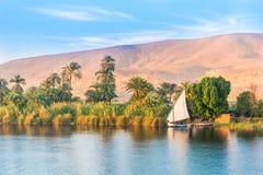 Rio Nile em Egipto fotografia de stock