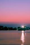 Rio no crepúsculo Foto de Stock