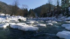 Rio no inverno vídeos de arquivo