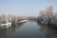 Rio no inverno Fotos de Stock