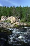 Rio no parque de Oulanka Fotografia de Stock