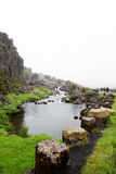 Rio no parque nacional de Þingvellir Foto de Stock