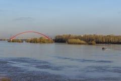 Rio Ob em Novosibirsk Fotos de Stock Royalty Free
