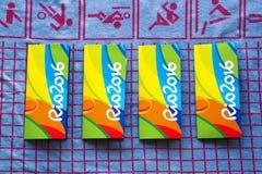 Rio 2016 olimpiad pamiątkarskich biletowych właścicieli Zdjęcie Stock