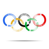 Rio 2016 Olympic games in Brazil. vector illustration with rings. Stock Image