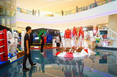 Rio Olympic Games China sports team apparel Exhibition Stock Photography