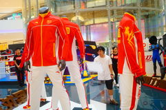 Rio Olympic Games China sports team apparel Exhibition Stock Image