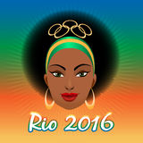 Rio Olympic Games Emblem Stockbilder
