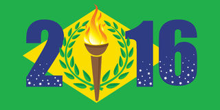 Rio Olympic-Spiele 2016 stock abbildung
