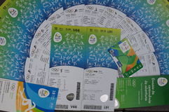 Rio2016 Olympic tickets Royalty Free Stock Photo