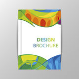 Rio 2016 Olympics brochures with abstract background. Summer Olympic Games in Brazil pattern. Olympiad 2016 landscape. Sport gold medal event. Competition in Stock Photos