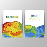 Rio 2016 Olympics brochures with abstract background. Summer Olympic Games in Brazil pattern. Olympiad 2016 landscape. Sport gold medal event. Competition in Royalty Free Illustration