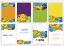 Rio 2016 Olympics brochures with abstract background. Summer Olympic Games in Brazil pattern. Olympiad 2016 landscape. Sport gold medal event. Competition in Vector Illustration