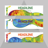 Rio 2016 Olympics flyers with abstract background. Rio 2016 Olympics brochures with abstract background. Summer Olympic Games in Brazil pattern. Olympiad 2016 Royalty Free Stock Image