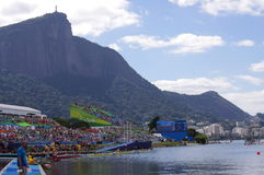 Rio2016 Olympics rowing competitions Royalty Free Stock Images