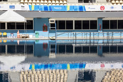 Rio 2016 olympische Orte: Maria Lenk Aquatic Center Stockfotografie