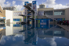 Rio 2016 olympische Orte: Maria Lenk Aquatic Center Stockbild