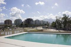 Rio 2016 olympische Orte: Maria Lenk Aquatic Center Stockbilder