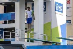 Rio 2016 olympische Orte: Maria Lenk Aquatic Center Lizenzfreies Stockbild
