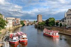 Rio Ouse York Reino Unido imagem de stock