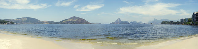 Rio Panorama with Sugarloaf Mountain Guanabara Bay Royalty Free Stock Image