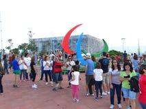 Rio 2016 - Paralympic-Symbol Stockbild