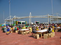 Rio 2016 - parco olimpico fotografia stock libera da diritti