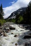 Rio pequeno da montanha na Abkhásia foto de stock royalty free
