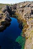 Rio pequeno em Thingvellir Fotos de Stock