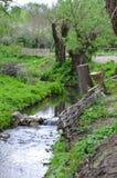 Rio pequeno na paisagem adiantada da mola Foto de Stock Royalty Free