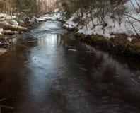 Rio pequeno no inverno Fotos de Stock Royalty Free