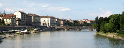 Rio Po, Turin Imagens de Stock Royalty Free
