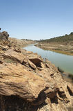 Rio poluído Foto de Stock Royalty Free