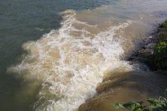 Rio poluído Imagem de Stock Royalty Free