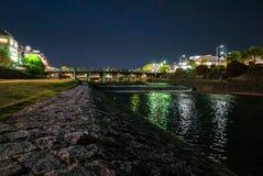 Rio Pontoncho próximo de Kamo-gawa imagem de stock