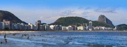Rio, praia de Copcabana Fotos de Stock