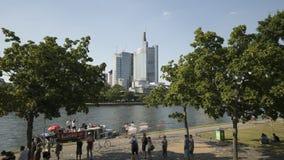Rio principal em Francoforte video estoque