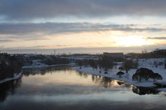Rio Pskova Imagens de Stock Royalty Free