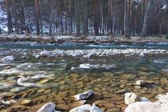 Rio puro da montanha Fotografia de Stock