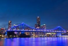 Rio Queensland Austrália de Brisbane da ponte da história foto de stock
