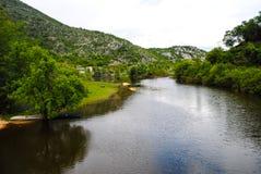 Rio rápido da montanha Fotografia de Stock Royalty Free