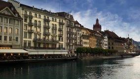 Rio Reuss na lucerna, Suíça Imagem de Stock