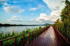 Rio running do rio da trilha Imagens de Stock Royalty Free