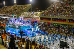 RIO`S CARNIVAL SAMBODROM BRAZIL 2018 royalty free stock photo