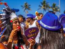 RIO`S CARNIVAL ON STREET BRAZIL 2018. royalty free stock photo