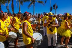RIO`S CARNIVAL ON STREET BRAZIL 2018. stock photography