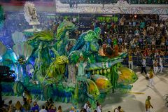 RIO ` S karnawał SAMBODROM BRAZYLIA 2018 obrazy royalty free