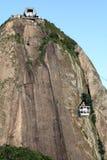 Rio's Sugar Loaf. Rio de Janeiro's Sugar Loaf view and Cable Car Royalty Free Stock Photos