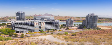 A Rio Salado Parkway Hayden Ferry Lakeside Shot Royalty Free Stock Images